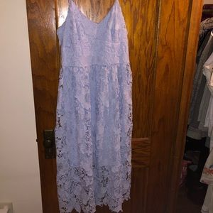 Beautiful Baby Blue/Purple Lace Dress
